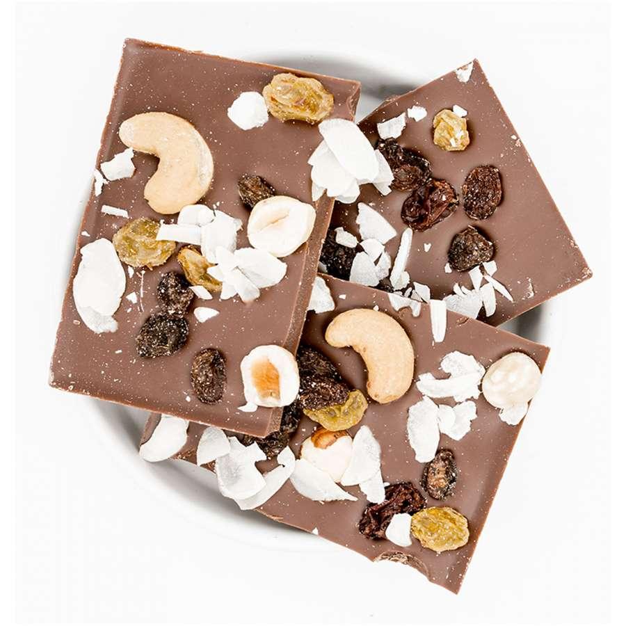 Glückwunsch - Bio Schokolade - Haselnüsse Sultaninen Mandeln | Snacks