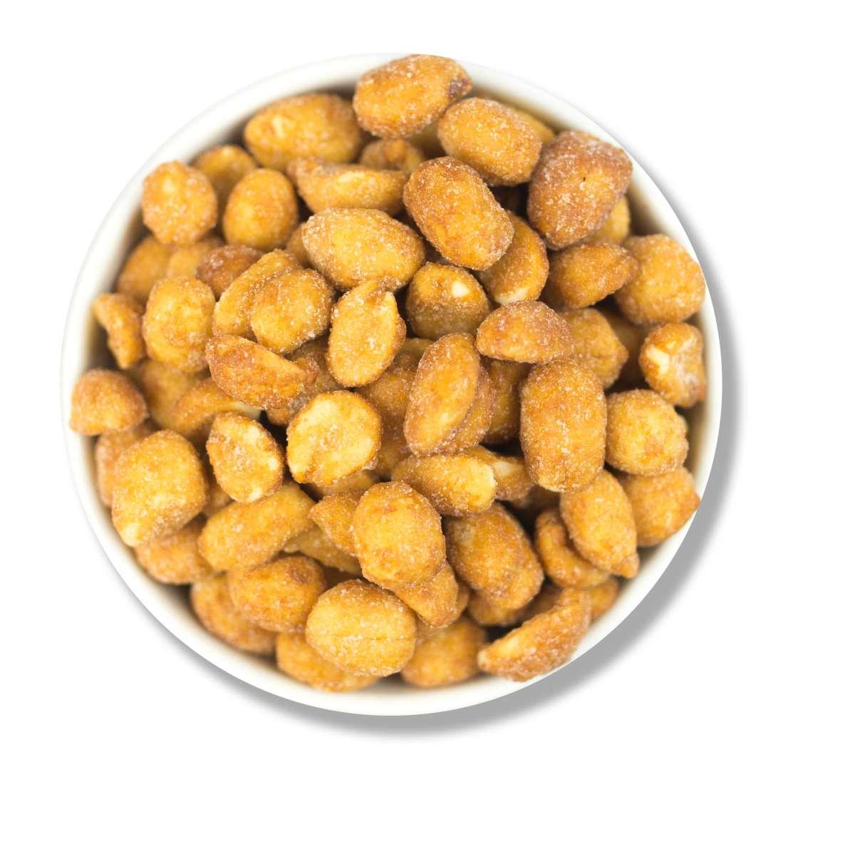 Gesalzene Erdnüsse mit Honig   Erdnüsse