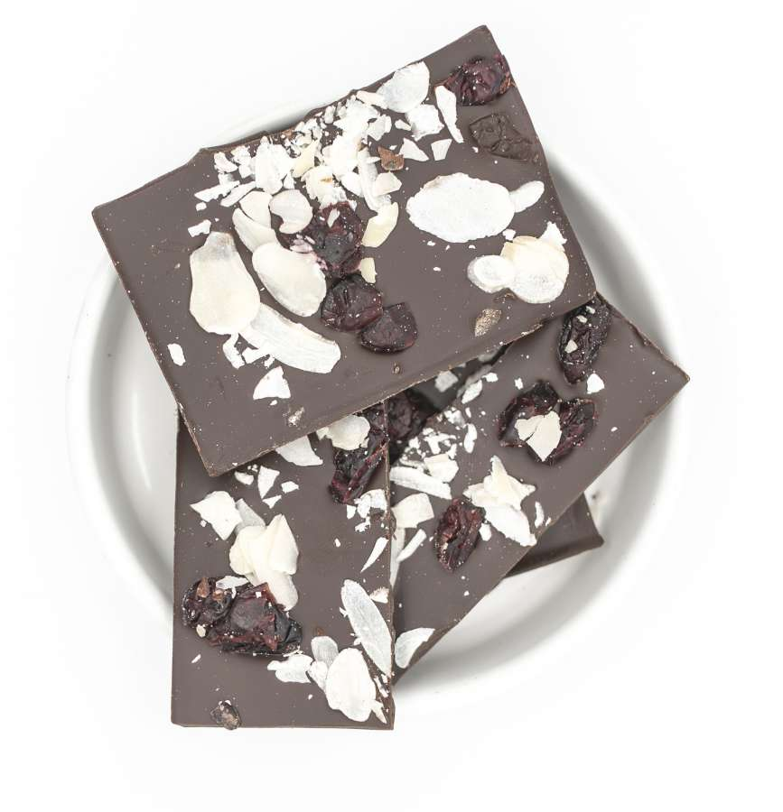 Liebe - Bio Schokolade - Mandeln Cranberry | Snacks