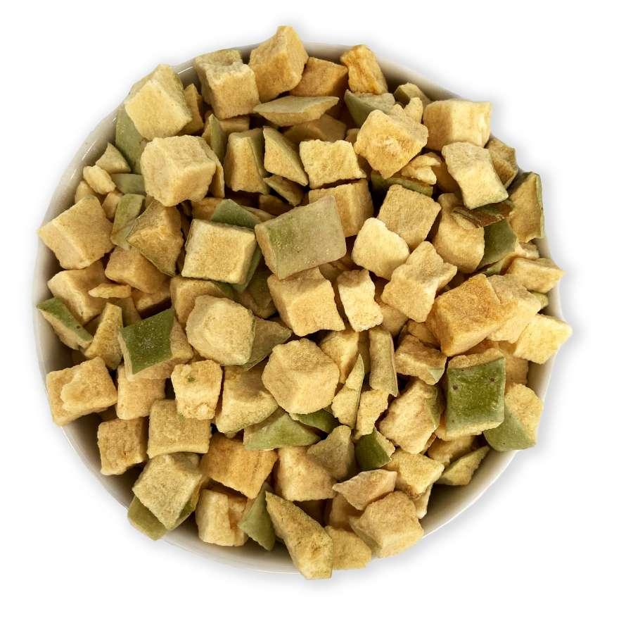 Bio gefriergetrocknete Apfelstücke | Trockenfrüchte