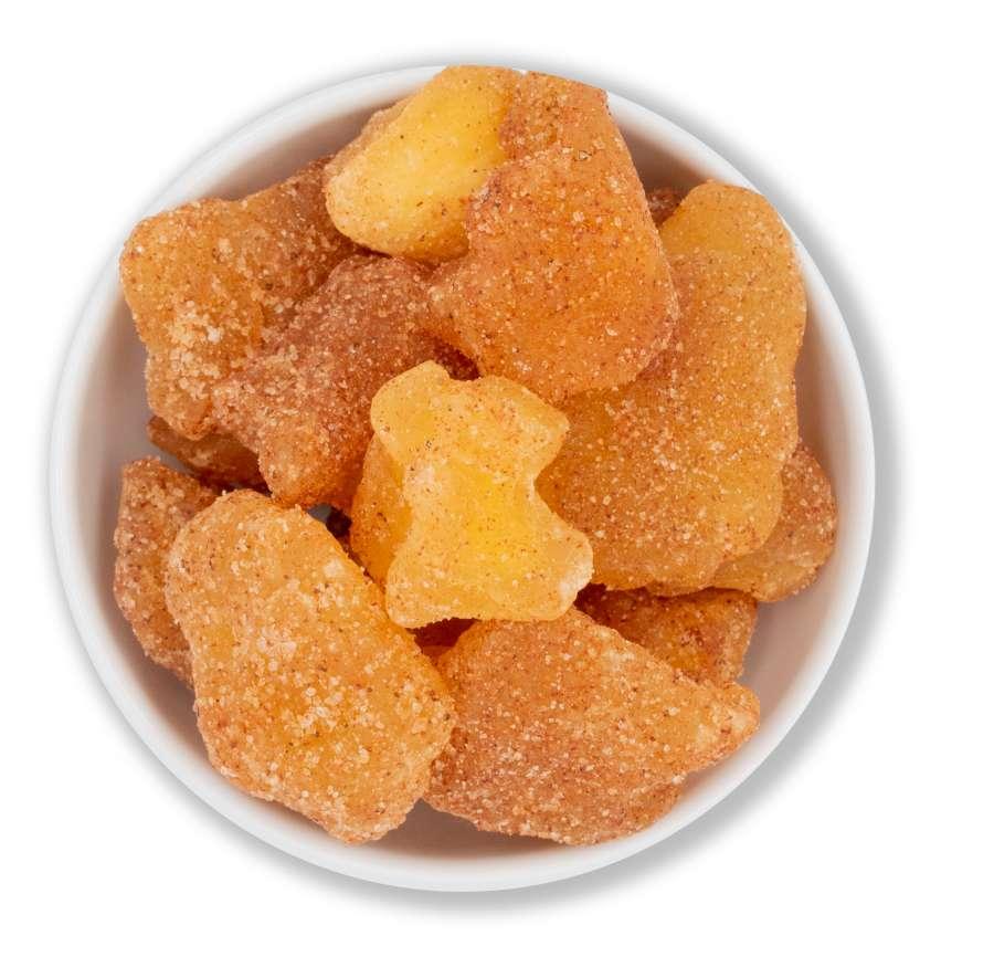 Apfel mit Zimt und Zucker | Trockenfrüchte
