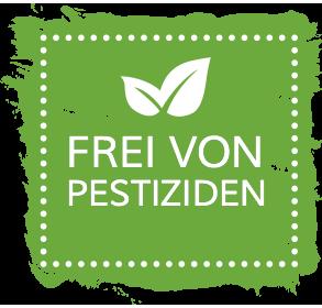 Frei von Pestiziden