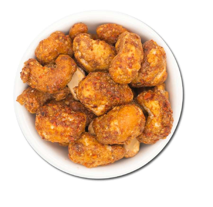 Cashewkerne mit Honig und Chilipfeffer | Cashewkerne