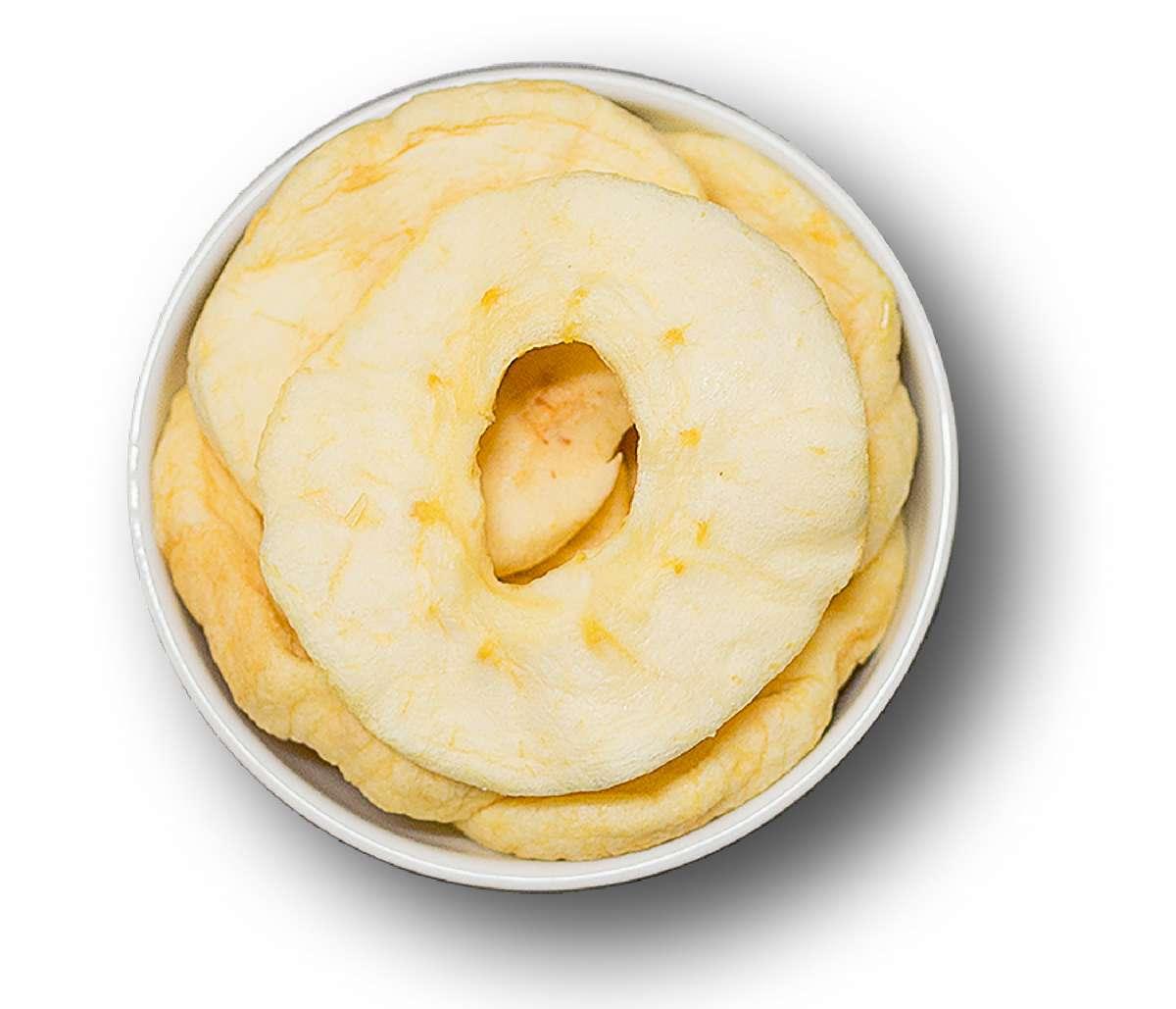 Getrocknete Apfelringe leicht geschwefelt | Trockenfrüchte